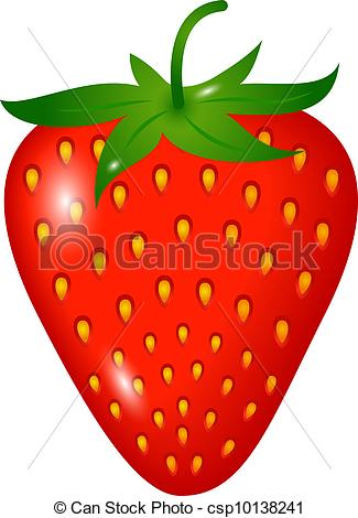 ... Strawberry - one ripe strawberry isolated on white