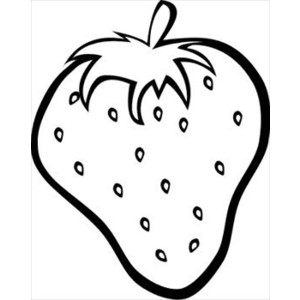 Strawberry-outline Clipart .-strawberry-outline Clipart .-15