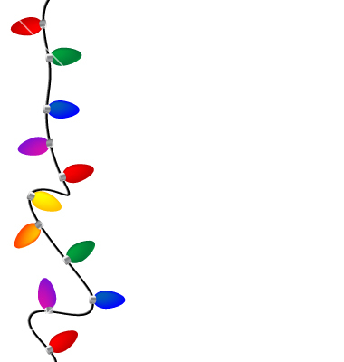 string of christmas lights clipart