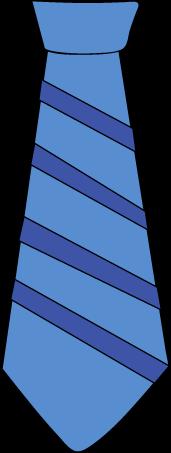 Striped Blue Tie Clip Art