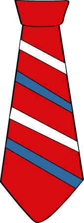 Striped Red, White and Blue Tie