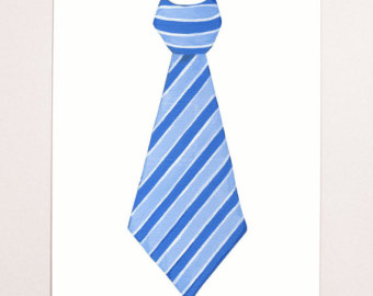 Striped Tie Clipart Blue Stri