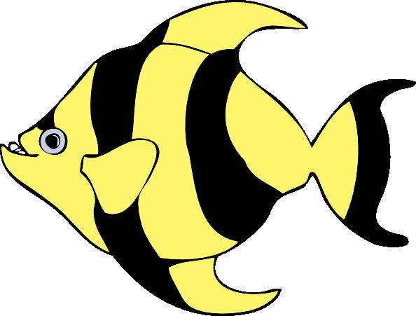 Striped Tropical Fish Clip Art At Clker Com Vector Clip Art Online