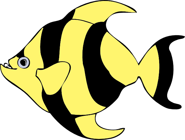 Striped Tropical Fish Clip Art At Vector-Striped Tropical Fish Clip Art At Vector Clip Art-17