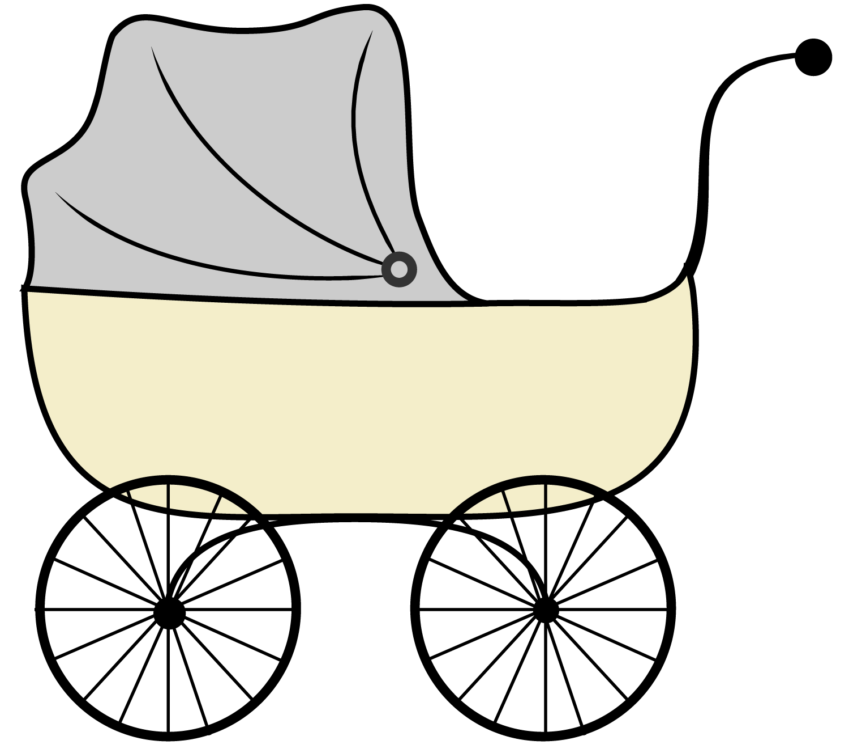 Stroller Clipart .-stroller clipart .-16