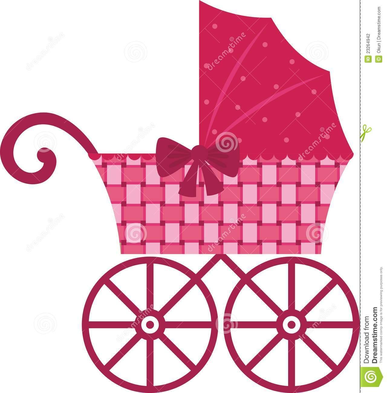 Stroller Clipart Carriage Clipart Pink Pram 23264942 Jpg
