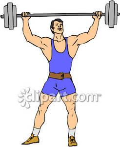 Strong Man Lifting Weights Royalty Free -Strong Man Lifting Weights Royalty Free Clipart Picture-15