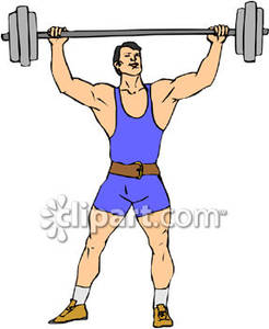 Strong Man Lifting Weights Royalty Free -Strong Man Lifting Weights Royalty Free Clipart Picture-11