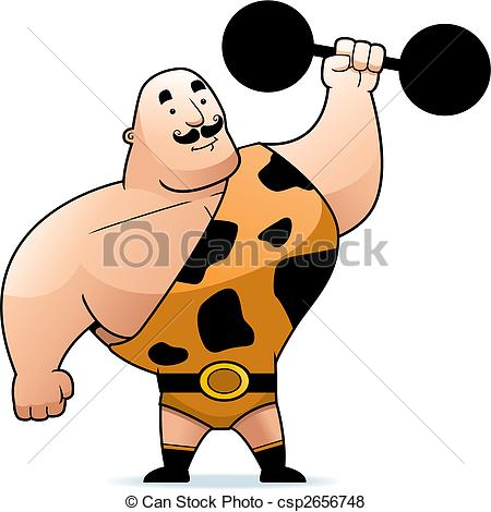 Strongman - A Cartoon Strongman With A D-Strongman - A cartoon strongman with a dumbbell.-17
