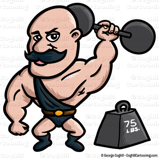 Strongman Cartoon Character Clip Art Sto-Strongman Cartoon Character Clip Art Stock Illustration By George-18