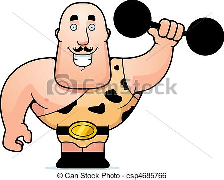 ... Strongman Dumbbell - A Happy Cartoon-... Strongman Dumbbell - A happy cartoon strongman lifting a.-16