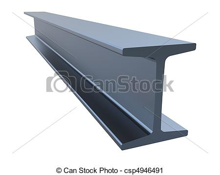 ... structural steel isolated on a white background