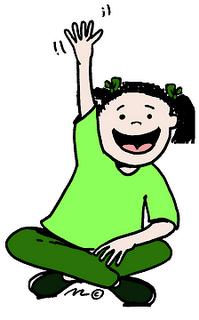 Student Raising Hand Clip Art-student raising hand clip art-13