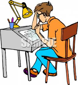 Student Doing Homework Clipart Clipart Panda Free Clipart Images