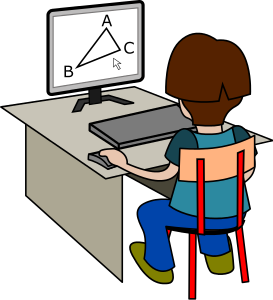 Student Geometry Computer - Geometry Clipart