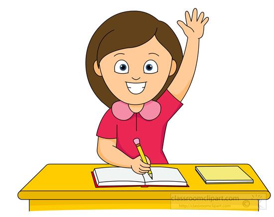 Student Raising His Hand In .-student raising his hand in .-18