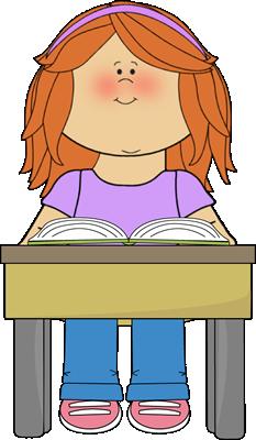 Student Reading School Book