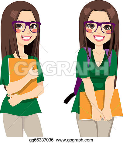 Student School College University u0026middot; Cute Nerdy Girl Student