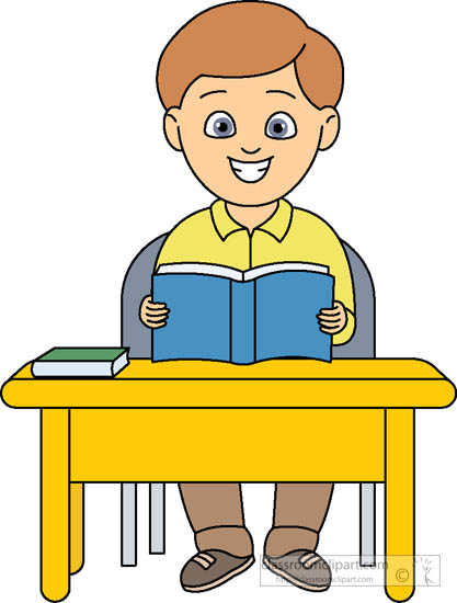 Student Sitting At Desk With .-Student Sitting At Desk With .-15