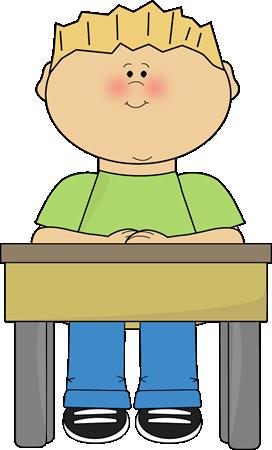 Student Sitting At School Desk Card Clip-Student Sitting At School Desk Card Clip Art Image Student Sitting-14