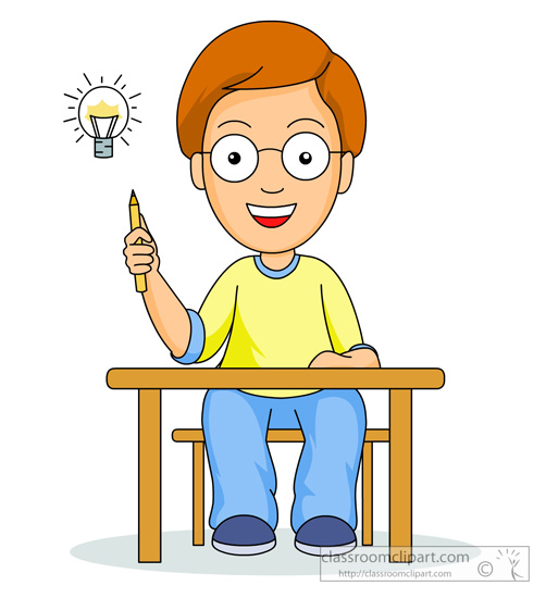 Student Thinking Clipart Student With An-Student Thinking Clipart Student With An Idea-8