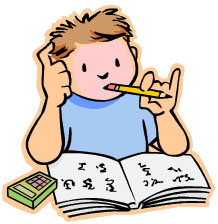student thinking - Students Working Clipart