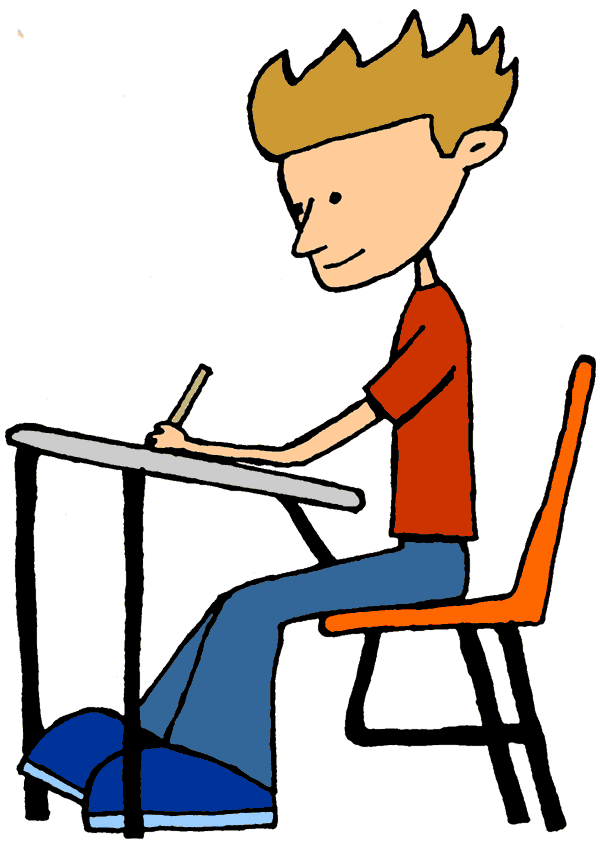 Student Working Clip Art