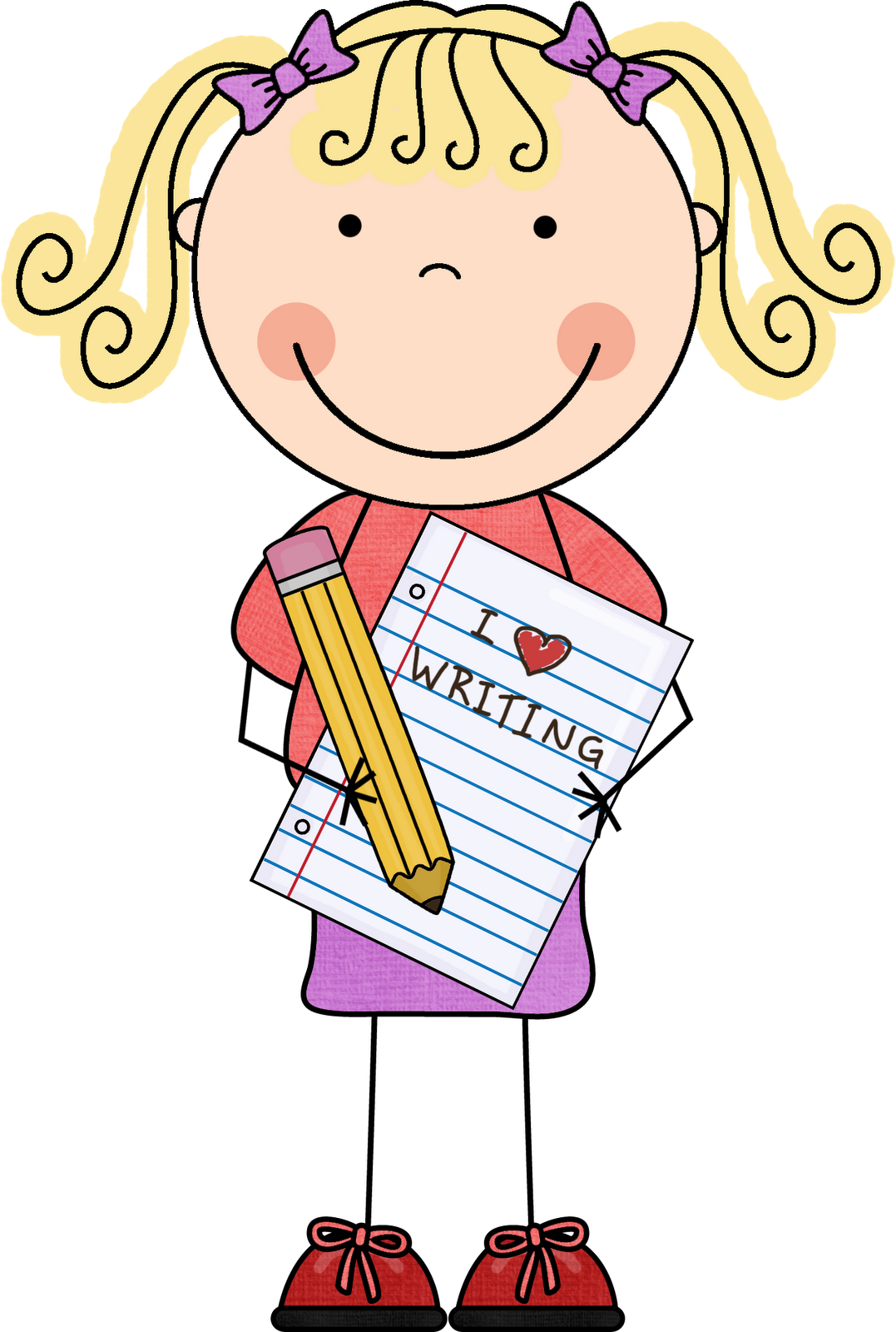 Student writing clipart