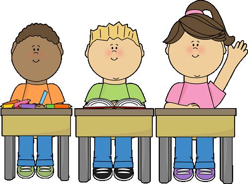 Students At School Clip Art Image Studen-Students At School Clip Art Image Students Sitting At Their Desks In-17