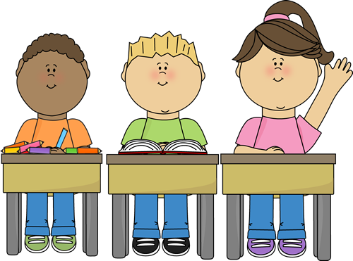 Students working free clipart