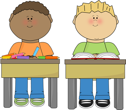 Students Clip Art Image - Two Boy Studen-Students Clip Art Image - two boy students in class doing work and reading.-11