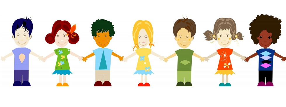 Students holding hands clipart .