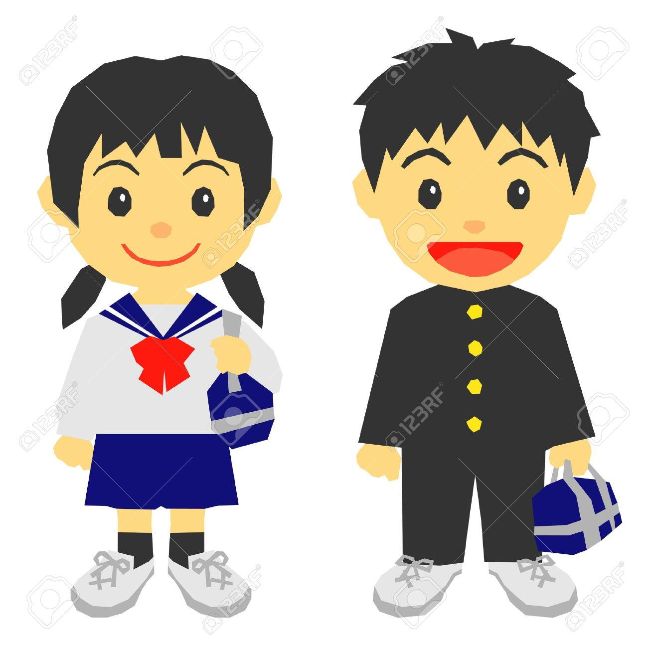 students, school uniform Stock .-students, school uniform Stock .-16