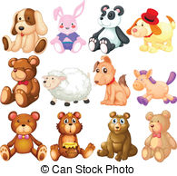 ... Stuffed animals - Illustration of many stuffed animals
