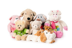 Stuffed animals Royalty Free .