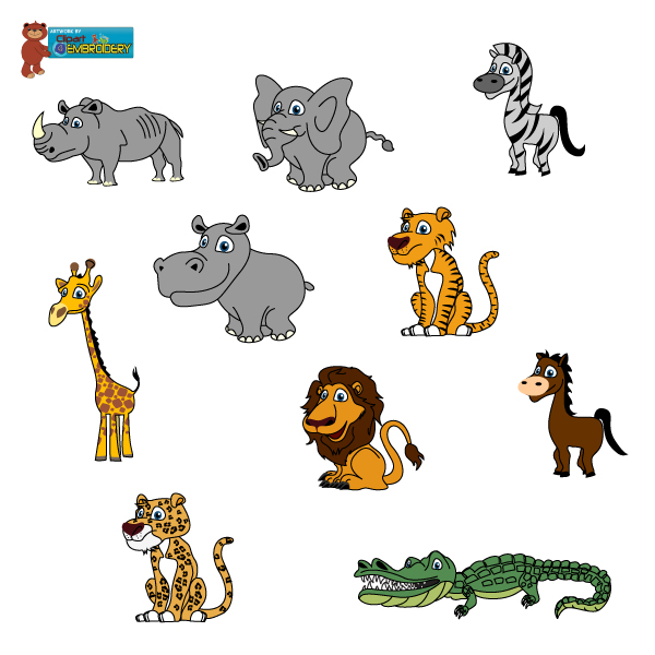 Stuffed Jungle Animals Clip - Wild Animals Clipart