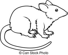 ... Stylised rat illustration - An illustration of a stylised.