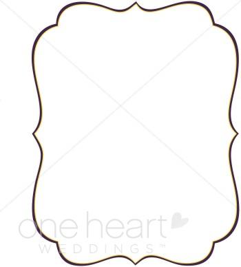 Stylish Bracket Clipart - Wedding Border Clipart Free