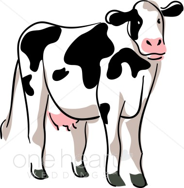 Stylized Cow Drawing Country Wedding Cli-Stylized Cow Drawing Country Wedding Clipart-17