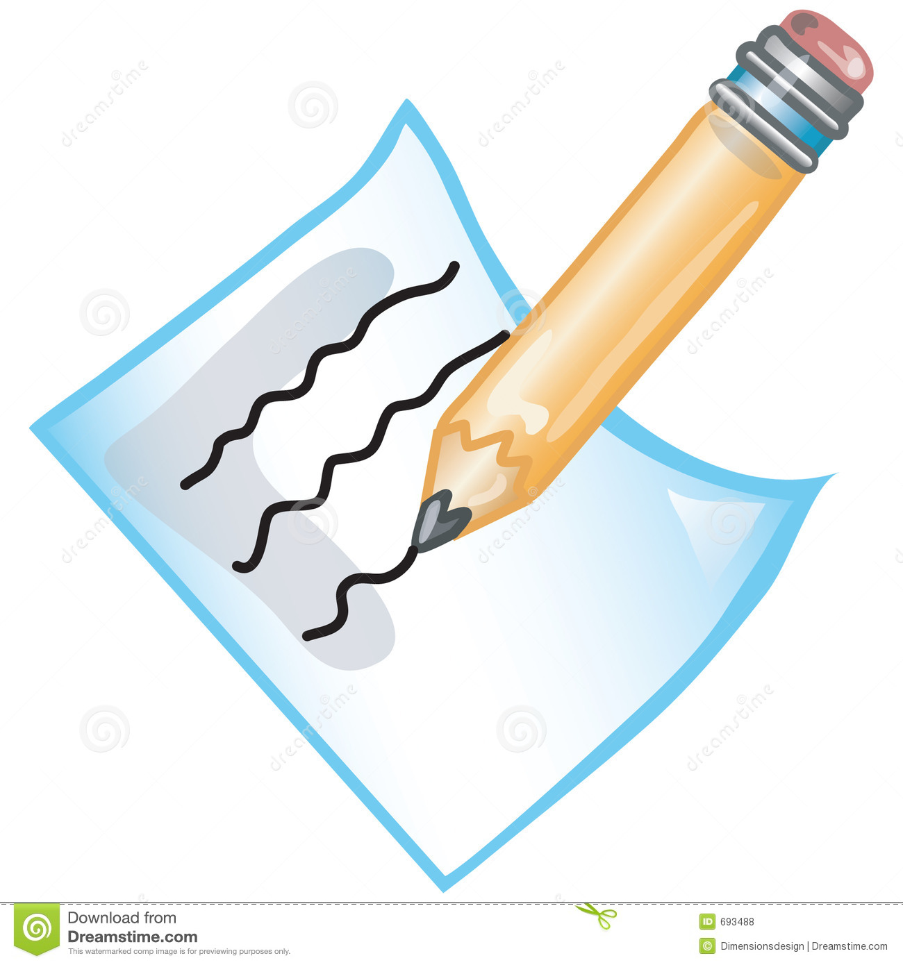 Stylized Icon Of A Pencil And Paper File 3 Of 20 In This Series