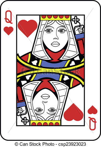 Stylized Queen of Hearts with strong out-Stylized Queen of Hearts with strong outline-8