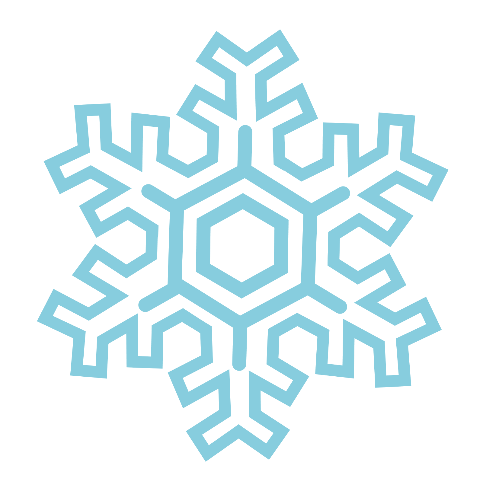 Stylized Snowflakes 20159 Download Royalty Free Vector Eps Clipart