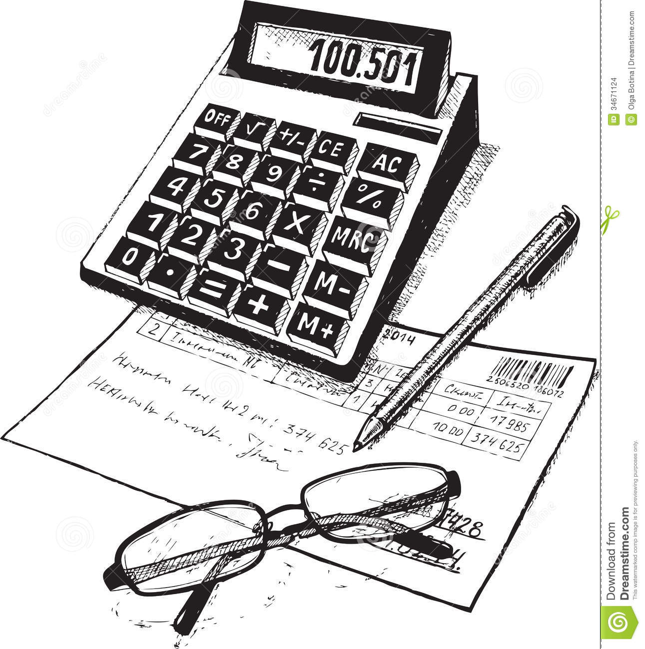 Subjects Of Attribute Of The Accountant -Subjects Of Attribute Of The Accountant Drawing On Paper-18