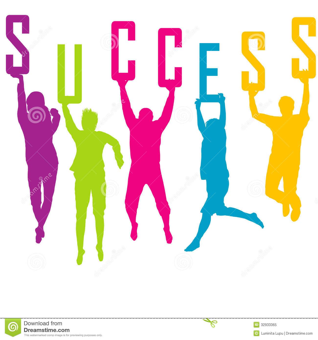 Business man climb to success