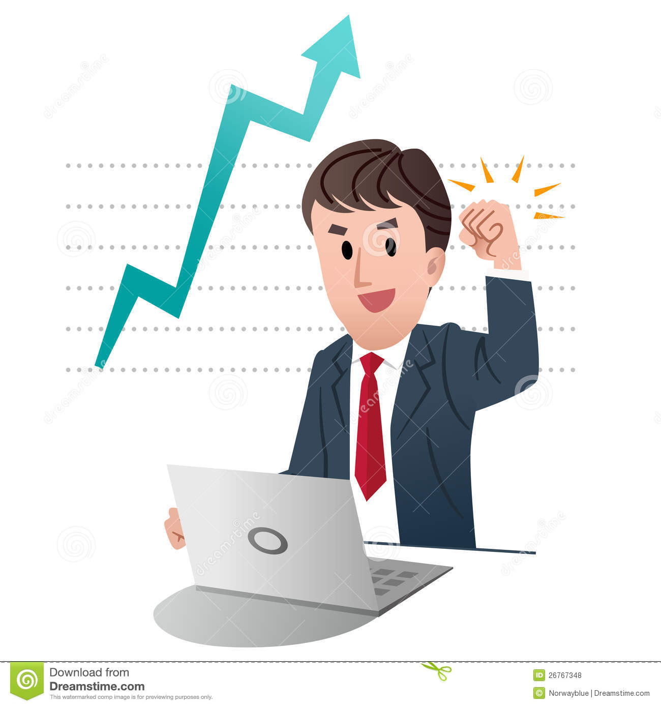 Successful Businessman Clipart