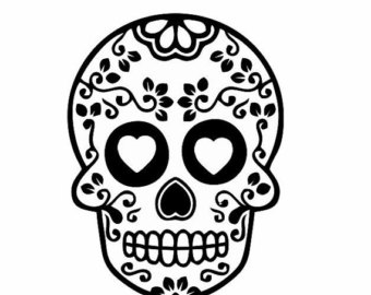 Sugar Skull Decals for Cars .