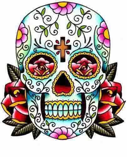 Sugar Skull Drawings Clipart - Free Clipart