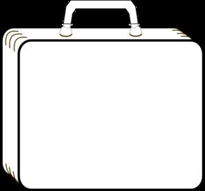 Colorless Suitcase Clip Art-Colorless Suitcase Clip Art-4