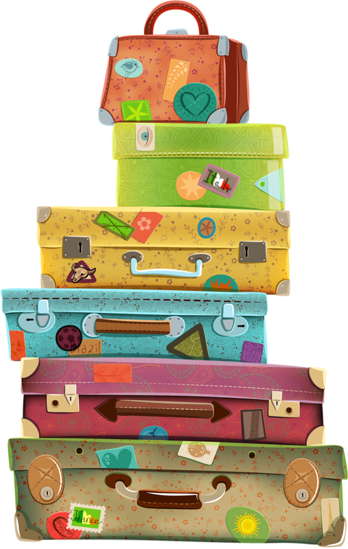 illustr.quenalbertini: Suitcases, clipart Más