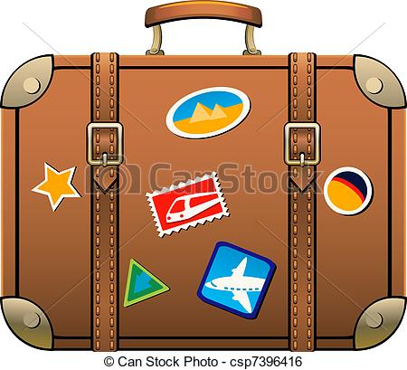 Suitcase isolated over white. EPS 8, AI, JPEG